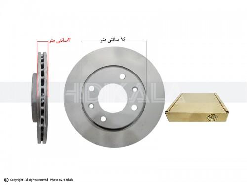 دیسک ترمز جلو پژو206 SDV6,V19,V20 اورجینال-ORIGINAL اصل اروپا-EU (2عدد)