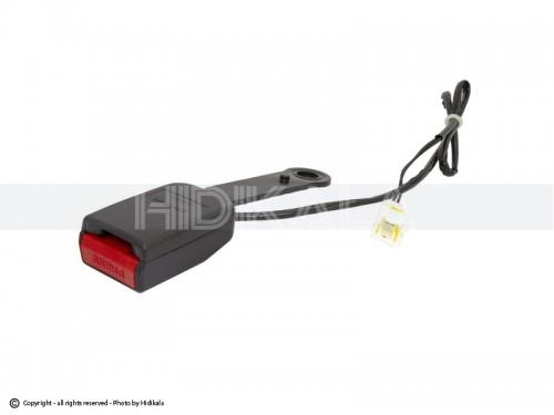 قفل کمربند ایمنی جلو با سیم (میکروسوئیچ) هیدیکا اصل شرکتی (مشکی) مناسب برای پژو 206/رانا/پژو207