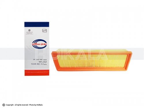 فیلتر هوا پژو206 سرکان اصل ايران (ابعاد: cm 34.5*10*5)