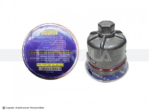 درپوش فیلتر روغن کوتاه (آلومینیومی) هیدیکا اصل ايران مناسب برای پژو 206/پژو207/پژو 405 TU5/پارسTU5/سمندTU5/رانا (ارتفاع فیلتر 7cm)