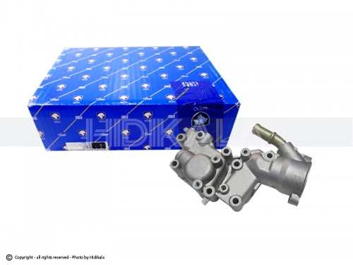 پوسته ترموستات(هوزینگ آب) آلومینیومی شرکتی ایساکو اصل ایران مناسب برای پژو206تیپ5,6/پژوV8,V9SD206/پژو207/پژو405 TU5/پارسTU5/سمندTU5/رانا