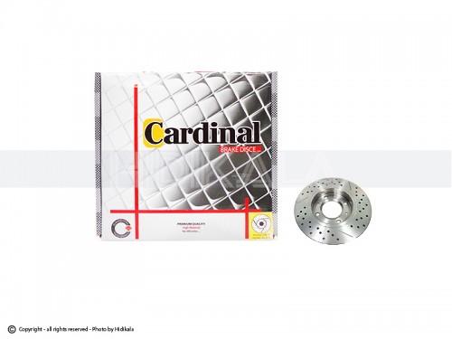 دیسک ترمز عقب اسپرت کاردینال-CARDINAL اصل هیدیکا مناسب برای پژو206تیپ5,6/پژو206 SDV8,V9/پژو207/رانا (2عدد)
