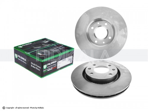 دیسک ترمز جلو پیلینگا-PILENGA اصل ایتالیا مناسب برای پژو206 تیپ5,6/پژوV8,V9SD206/پژو207/رانا/پژو206تیپ2 مدل بالایی(2عدد)