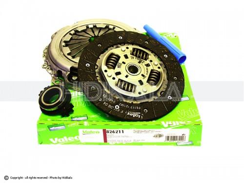 دیسک و صفحه و بلبرینگ(کیت کلاچ) پژو206/پژو207 والئو-VALEO اصل فرانسه شماره فنی:826211 (مدل85تا92)