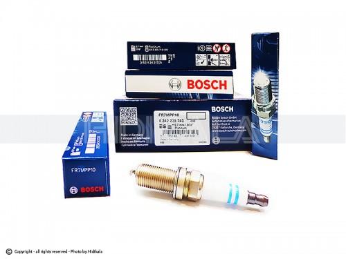 شمع سوزنی پایه بلند پلاتینیوم بوش-BOSCH اصل آلمان مناسب برای پژو206 تیپ 5,6/پژو 206 V8,V9 SD/رانا/پژو207/پژوTU5 405/پارسTU5/سمندTU5 (4 عدد) شماره فني FR7MPP10