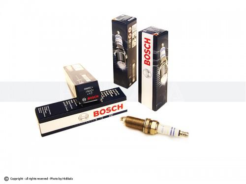 شمع پایه بلند بوش-BOSCH اصل آلمان مناسب برای پژو206 تیپ 5,6/پژو 206 V8,V9 SD/رانا/پژو207/پژوTU5 405/پارسTU5/سمندTU5 (4 عدد) شماره فني FR8SC+79001(+42)