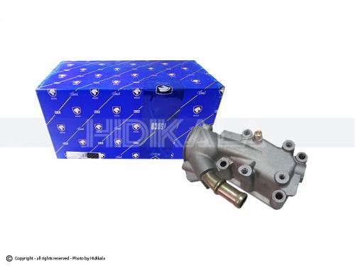 پوسته ترموستات(هوزینگ آب) آلومینیومی شرکتی ایساکو اصل ایران مناسب برای پژو206تیپ3,2/پژوV6,V19,V20SD206