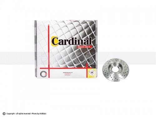 دیسک ترمز جلو اسپرت کاردینال-CARDINAL اصل هیدیکا مناسب برای پژو405/پارس/سمندمعمولی/زانتیا1800 (2عدد)
