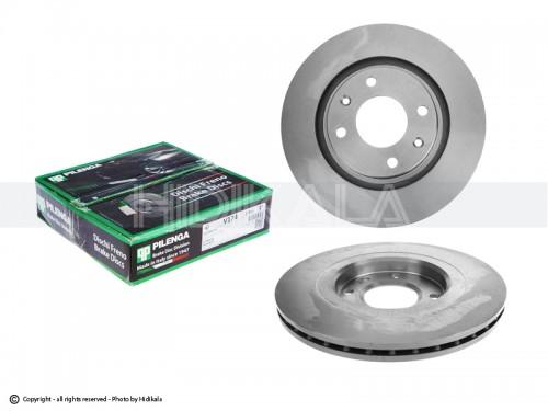 دیسک ترمز جلو پیلینگا-PILENGA اصل ایتالیا مناسب برای پژو405/پارس/سمندمعمولی/زانتیا1800 (2عدد)