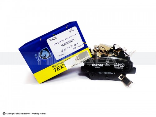 لنت ترمز عقب دیسکی تكستار-TEXTAR شركتي ایساکو اصل ایران مناسب برای دنا/پارسXUM-TU5/پژو405 TU5/سمند