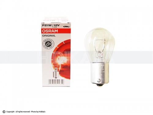 لامپ تک کنتاکت اسرام-OSRAM اصل آلمان 12V-P21W (رنگ استاندارد)