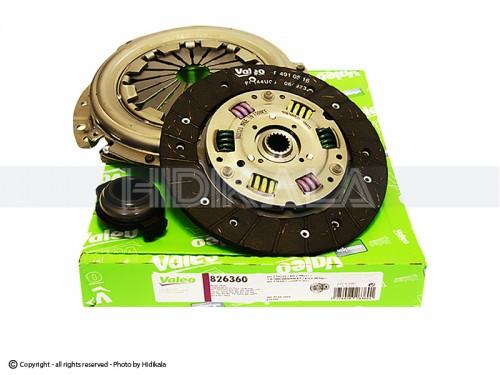 دیسک و صفحه و بلبرینگ(کیت کلاچ) والئو-VALEO اصل فرانسه مناسب برای پژو405/پارس/سمند/دنا شماره فنی:826360
