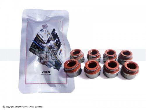 لاستیک ساق سوپاپ (کاسه نمد زیر فنر سوپاپ) ویژن-VISIUN اصل ژاپن مناسب برای پژو405 GLX/پارس/سمند (8 عدد)