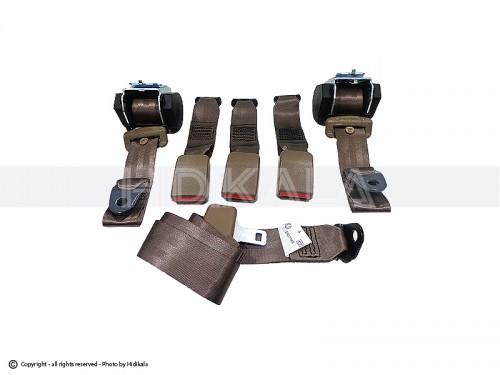 کمربند ایمنی کامل عقب هیدیکا اصل شرکتی (بژ) مناسب برای پژو 405/پارس/سمند