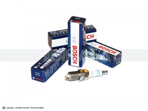 شمع پایه کوتاه تک پلاتین بوش-BOSCH اصل آلمان مناسب برای پژو405 GLX/پراید/پژو 206تیپ3,2/پژو206 V6,V19,V20 SD/ال90/تیبا/سمند/پارس/ریو/دنا/مگان/زانتیا (4 عدد) شماره فنيFR7DC8334