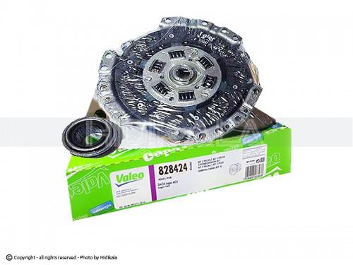 دیسک و صفحه و بلبرینگ(کیت کلاچ) پراید والئو-VALEO اصل ترکیه شماره فنی:828424