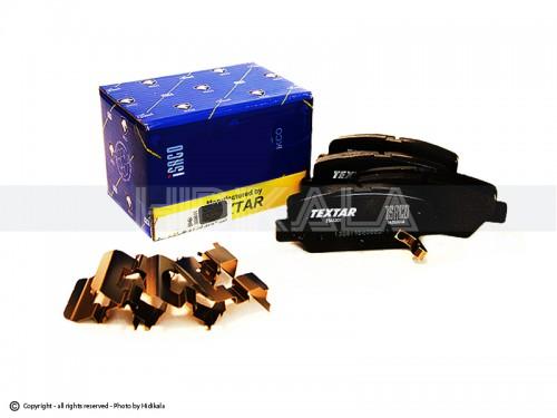 لنت ترمز عقب تكستار-TEXTAR شركتي ایساکو اصل ایران مناسب برای رانا/پژو206تیپ5,6/پژو206 SDV8,V9/پژو207 (مدل رانایی)