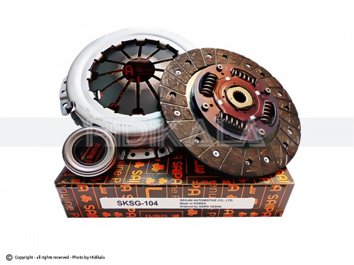 دیسک و صفحه و بلبرینگ(کیت کلاچ) تيبا 200ميلي متري سكو-SECO شركتي سايپا اصل كره (مدل92تا95)
